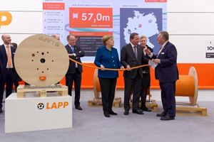 Chancellor Dr. Angela Merkel and Swedish Prime Minister Stefan Löfven visit LAPP at Hannover Messe