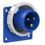 Picture of CEE Flanged Plug Straight 16A 3p IP67