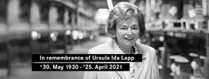 We mourn the death of Ursula Ida Lapp